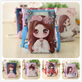 Small Leather Coin Purse 2016 New Korean Soft Surface PU leather Long Wallet Cute Cartoon Girl Cute Beautiful Pattern Purse