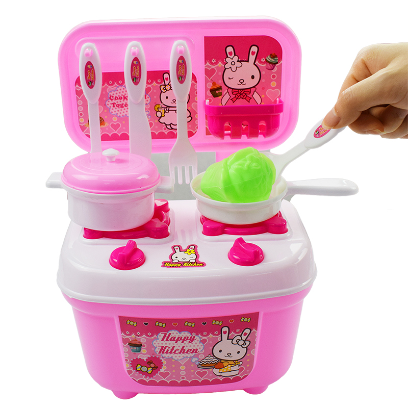17 Pcs/Lot Pink Children Play House Kitchen Cook Cooking Toys Boys And Girls Utensils Childrens Toys Set Pretend Play