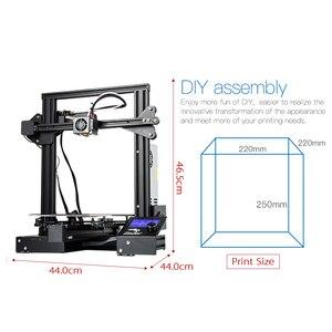 Image 3 - CREALITY 3D אנדר 3/Ender 3 פרו 3D מדפסת משודרגת מגנט לבנות צלחת לחדש הפסקת חשמל הדפסה MeanWell אספקת חשמל
