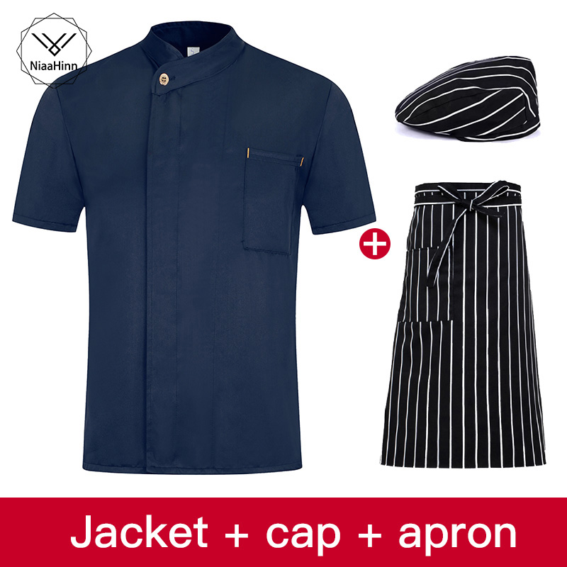 Catering Clothing Food Service Chef Jacket Unifrom Hotel Restaurant Kitchen Waiter Chef Costume Clothes Chef Shirt Chefs Hat