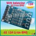6 S 12A 22.2 V li ion BMS PCM placa de proteção da bateria Limn2O4 BMS PCM com equilíbrio para LicoO2 li bateria