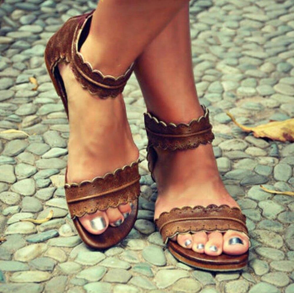Pandaie Womens .. Sandals Summer Womens Shoes Fish Mouth Roman Shoes Casual Flat Sandals Ladies Sandals