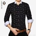 Высокое качество 2015 хлопок Мужчины Рубашки Повседневные марка slim fit мужской цветочные Рубашки платья Мода Slim Fit A variety of color