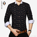 2015 de algodón de Alta calidad Camisas de Los Hombres Casual marca slim fit male camisas florales vestidos de fiesta de moda slim fit a variedad de color