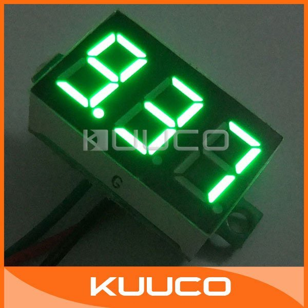 5 PCS/LOT DC 12V Digital Voltmeter Panel Meter Li-ion Cell Battery Power Monitor DC 0-9.99V with Install Ear #090846