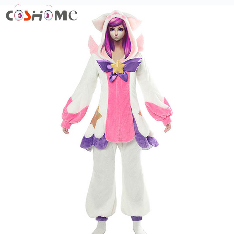 Coshome Pre-Order Star Guardian LOL Lux Cosplay Costumes Wig Men Women Pajamas for Halloween Party