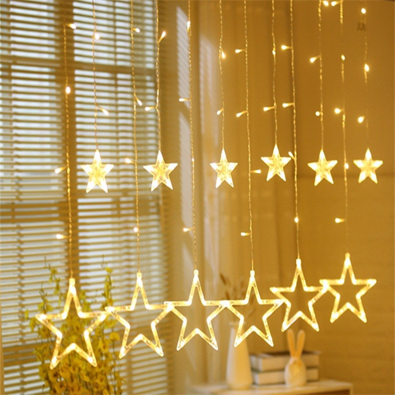 2 5m Garland Led Star String Light Aa Battery Operated Led