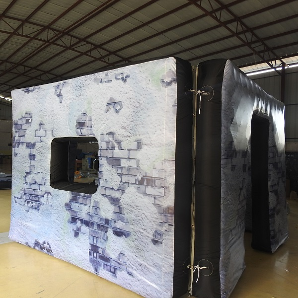 Inflatable paintball bunker wall air ball bunker цена