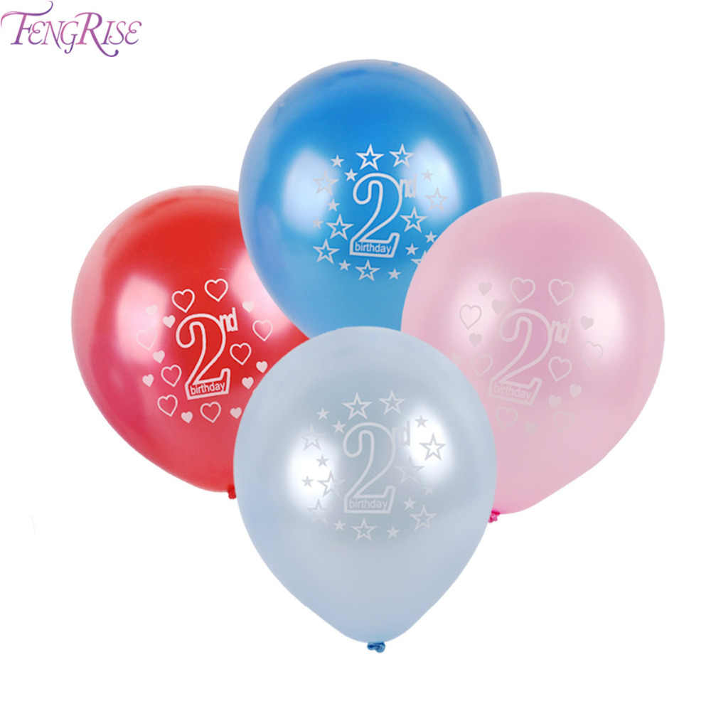 Detail Feedback Questions About FENGRISE 10pcs 12inch Number 2 Year Old Balloons Girl Pink Boy Blue Latex Balloon 2nd Birthday Party Decorations Kids Favors