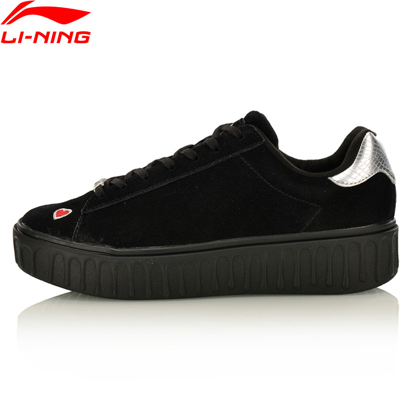 Li-Ning Women The Trend Series Stylish Shoes Leisure Sneakers Breathable LiNing Sports Shoes AGLM106 YXB100 original li ning men professional basketball shoes