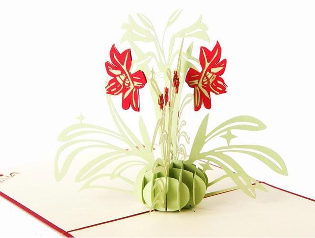Daffodil flower 3d pop up paper laser cut greeting gift happy daffodil flower 3d pop up paper laser cut greeting gift happy birthday thank you cards m4hsunfo