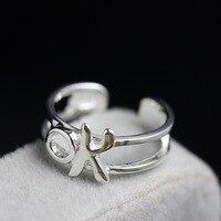 Norfolk Gericht schmuck großhandel 925 sterling silber ring Paare weijie Öffnung handgemacht silber kleinen ring