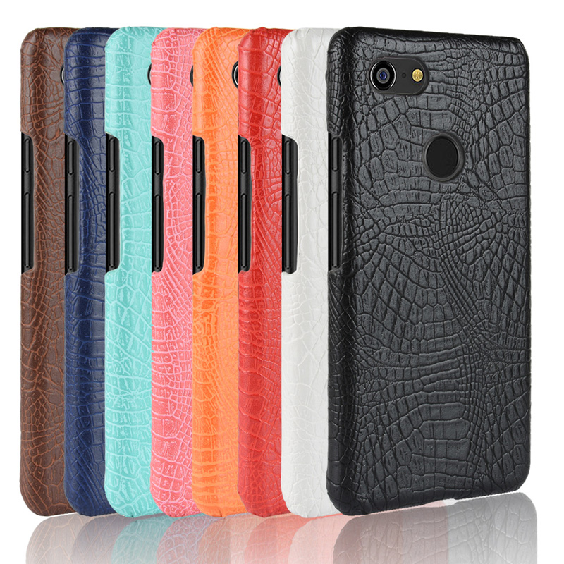 Fitted Funda For Google Pixel 3 XL Crocodile Skin Bumper Case Pixel3 XL Hard PC Frame Cover Pixel 3XL Shockproof Phone Coque