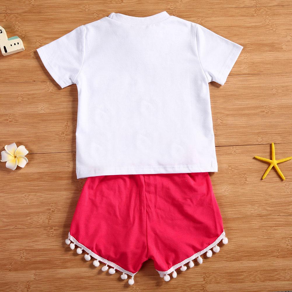 2Pcs Baby Girls Set toddler Uşaqlar Qız Qızları Geyimləri Ağ - Uşaq geyimləri - Fotoqrafiya 4