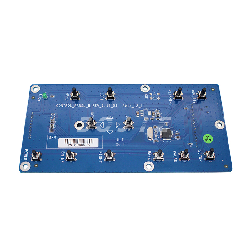 Zhongye solvent printer spare parts XP600 head control panel key board digital printer zhongye 16h carriage board for seiko print head