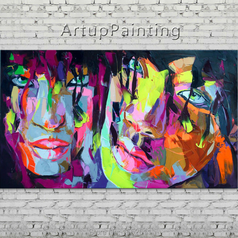 Palette knife portrait Face Oil painting Character figure canva Hand painted Francoise Nielly wall Art picture 06-10-6fPalette knife portrait Face Oil painting Character figure canva Hand painted Francoise Nielly wall Art picture 06-10-6f
