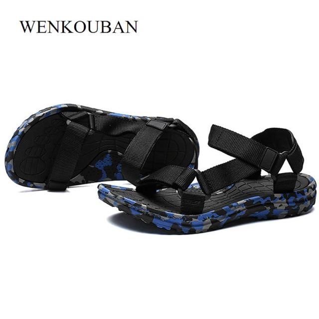 4de8f578c643e Summer Men Sandals Gladiator Beach Shoes Male Camouflage Slippers Sport  Water Flip Flops Sandalia Masculina Zapatos De Hombre