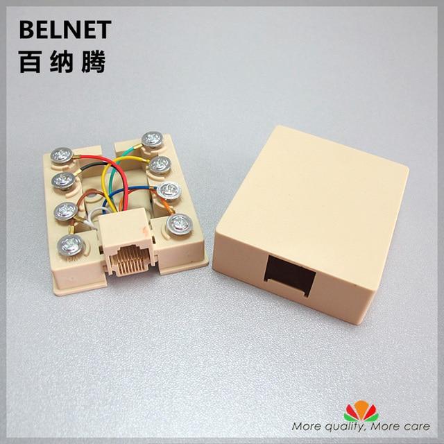 8 terminal block single port network wiring box rj45 network cable rh aliexpress com RJ45 Jack Wiring rj45 surface mount box wiring
