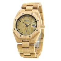 BEWELL Wood Quartz Watch Man Trendy Calendar Display Watch Natural Wooden Casual Masculino Watches With Box