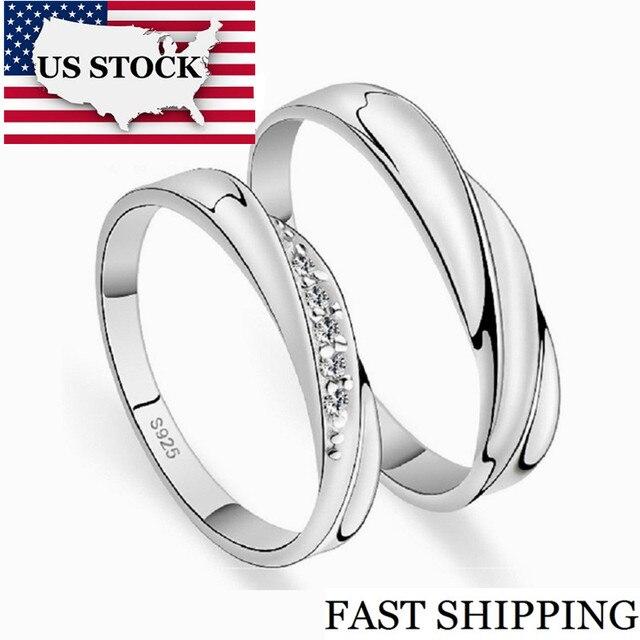 882098e0ac99 US STOCK 5% de descuento bodas pareja anillos para hombres y mujeres un par  amor