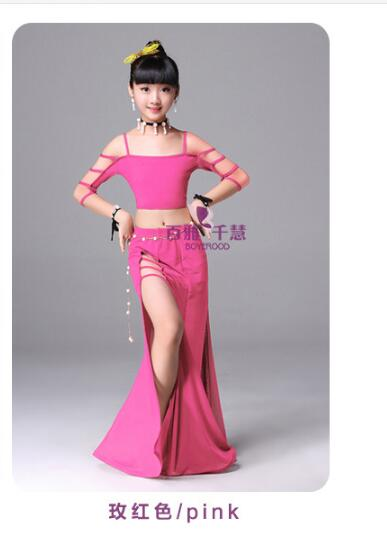 New Summer Girls Belly Dancing Costume Child Oriental Dance Costumes Indian Dancing Performance Dresss For Kids