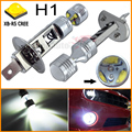 2pcs/lot 6 x 5W High Power Max 30W Super Brightness H1 White CRE E XB-R5 LED Bulbs For Vehicle car Fog Lights, Free Shipping