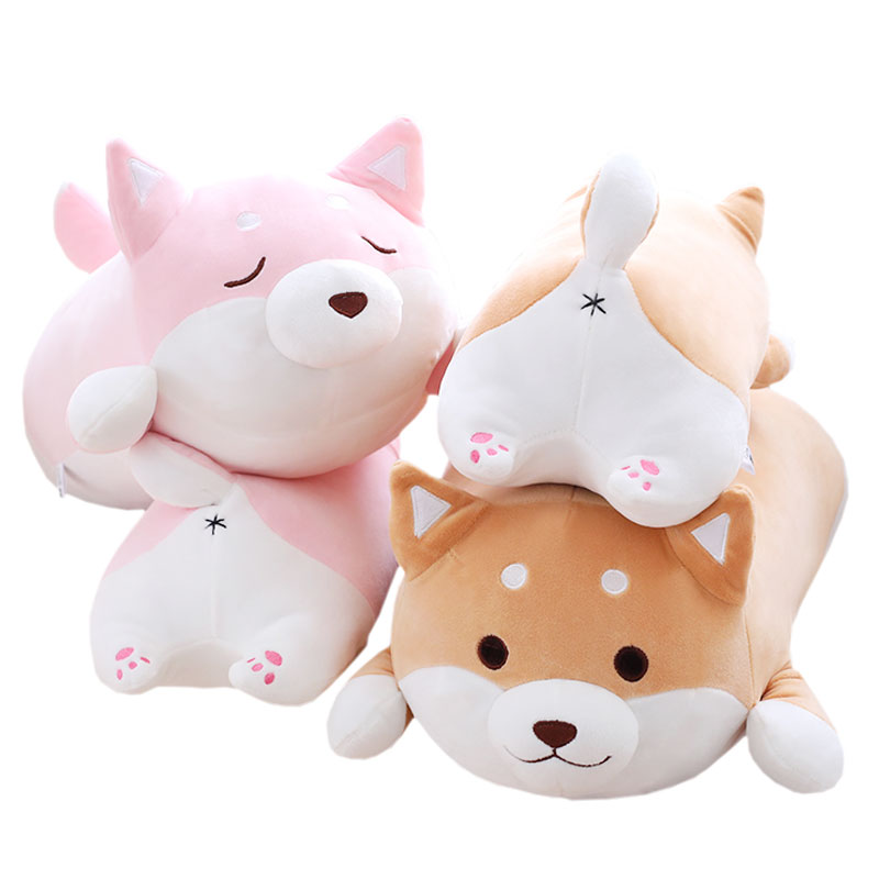 Cartoon dog plush pillow shiba inu toys for children gift Bedroom cushion toys for children xmas gift