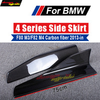 Carbon Side Bumper Extension Skirt for BMW F80 M3 F82 M4 420i 428i 440i 435i 430 Universal Side Skirts Splitters Flaps Winglets