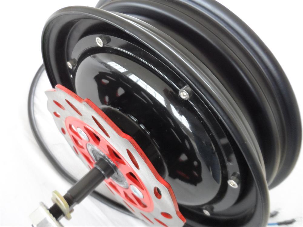 Moteur électrique de moyeu de scooter de 10 pouces 48V60V/72 V 1000 W BLDC/moteur électrique puissant de remplacement de moto