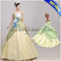 Księżniczka i Żaba Księżniczka Tiana Tiana cosplay kostium Strój dla Dorosłych Custom made