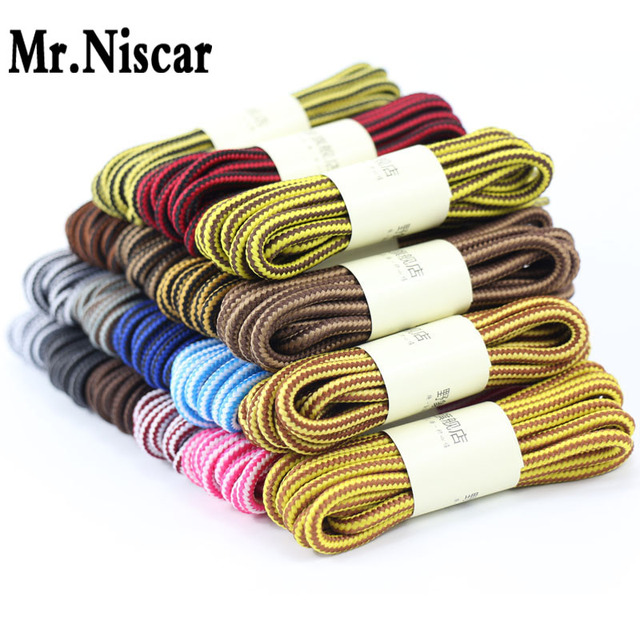 1 Pair Round Strong Shoelaces Striped Elastic Shoe Laces Martin Boots Bootlaces Round Shoelace for Athletic Sneaker String
