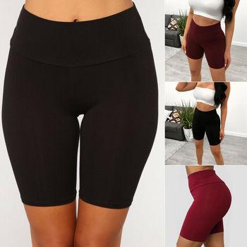 Damskie sportowe spodenki do jogi trening siłownia leginsy rozciągliwe spodenki odzież sportowa tanie i dobre opinie HAIMAITONG WOMEN COTTON CN (pochodzenie) Shorts szorty Yoga Dobrze pasuje do rozmiaru wybierz swój normalny rozmiar Sukno