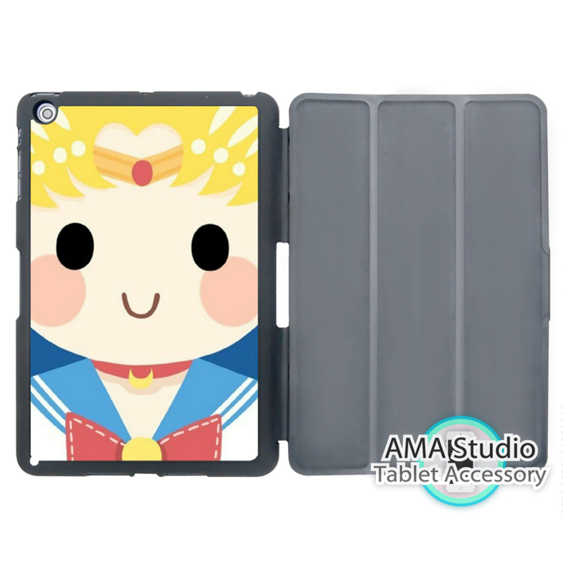 Sailor Moon Lovely Cartoon Case For Apple iPad Mini 1 2 3 4 Air Pro 9.7 Stand Folio Cover 10.5 12.9 2016 2017 a1822 New