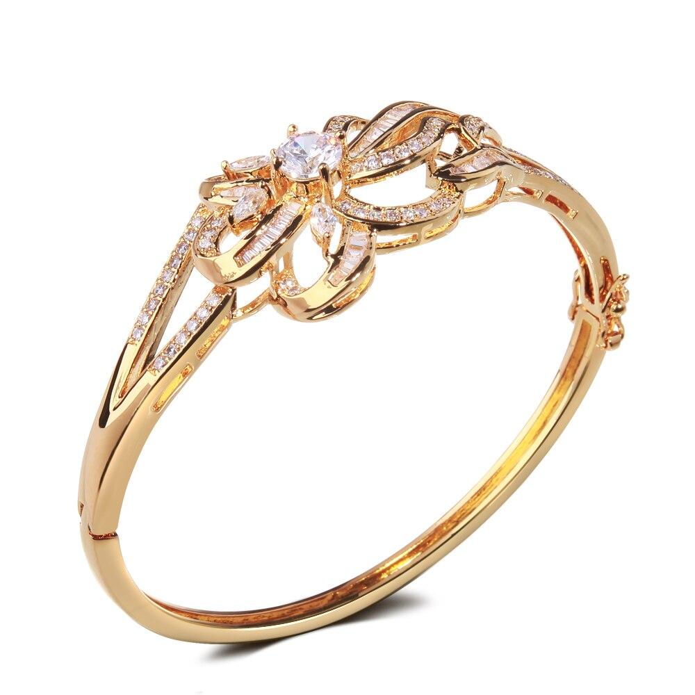 62mm Wedding Metal Bangles White Cz Bangle Party Gift Jewelry
