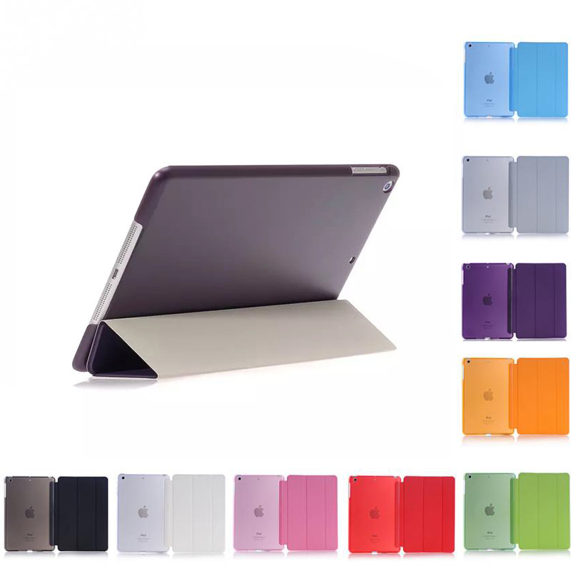 Case For Ipad 2 3 4 Case Back Folio Stand With Auto Sleep/Wake Up Solid Color PU Leather Smart Cover For Apple Ipad 4 3 2 Cases