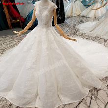 Sleeveless Luxury Big Train Vintage Wedding Dresses Gowns