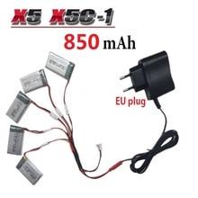 850mAh 3 7V LiPo font b Battery b font Euro Plug AC Charger for SYMA X5C