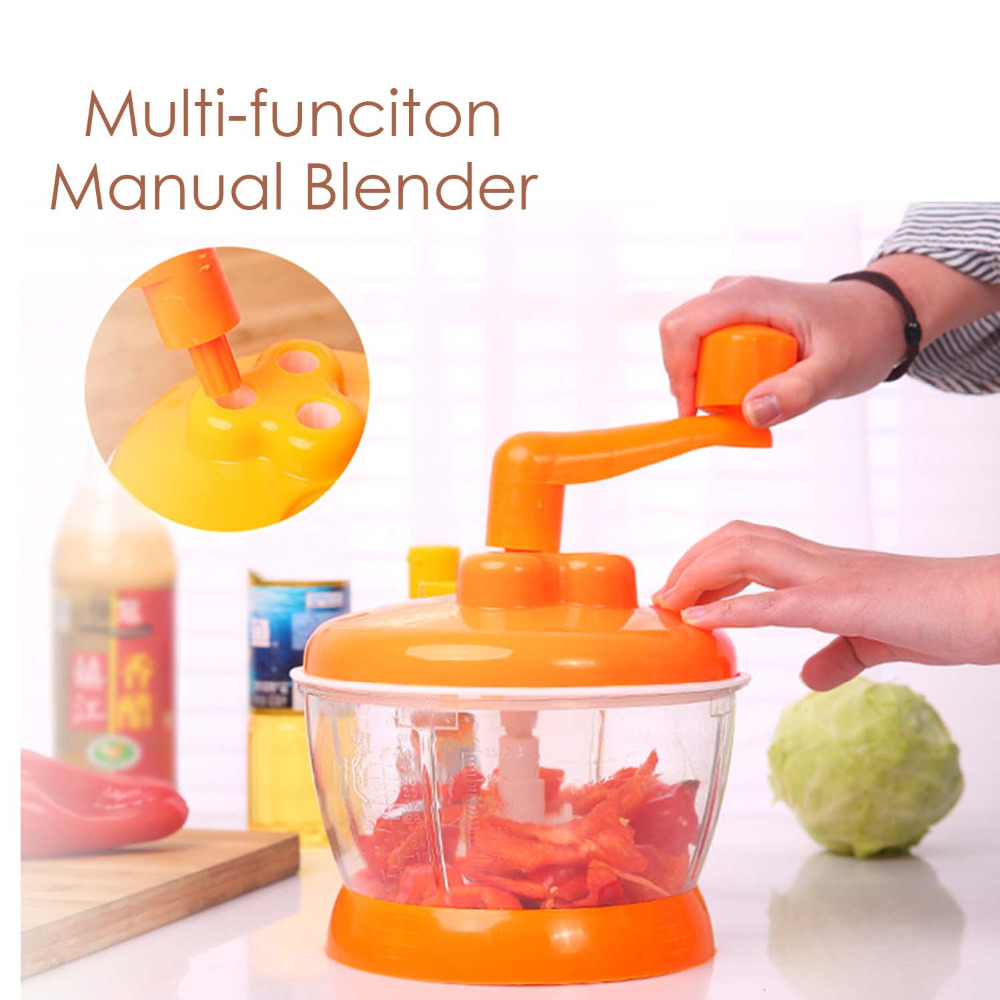 Behokic Multi functional Household Manual Vegetable Fruit Hand Speedy Chopper Food Shredder Grinder Mincer Mixer Random