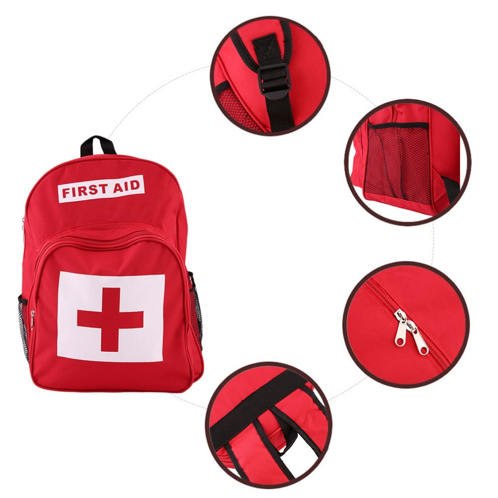 Red Cross First Aid Kit Bag Outdoor Sports Camping Home Medical Emergency Survival Bag Waterproof Fabrics Backpack Best Selling