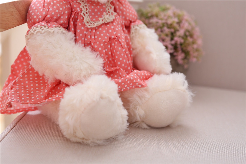 Cute Couple Teddy Bear Plush Toys Couple Bear Wedding Teddy Bears Soft Stuffed Dolls Valentine Day Kids Friends Lovers Birthday Christmas Gift 26cm 1 Pair (23)