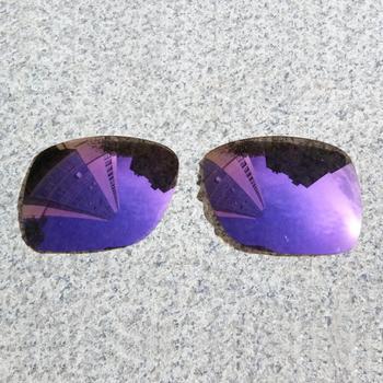E O S spolaryzowane wzmocnione wymienne soczewki do okularów przeciwsłonecznych Oakley-fioletowe fioletowe lustro spolaryzowane tanie i dobre opinie Eye Opening Stuff Poliwęglan Okulary akcesoria Fit for Oakley Deviation Frame UV400 One size inches As your choice Reduces glare and impact resistant