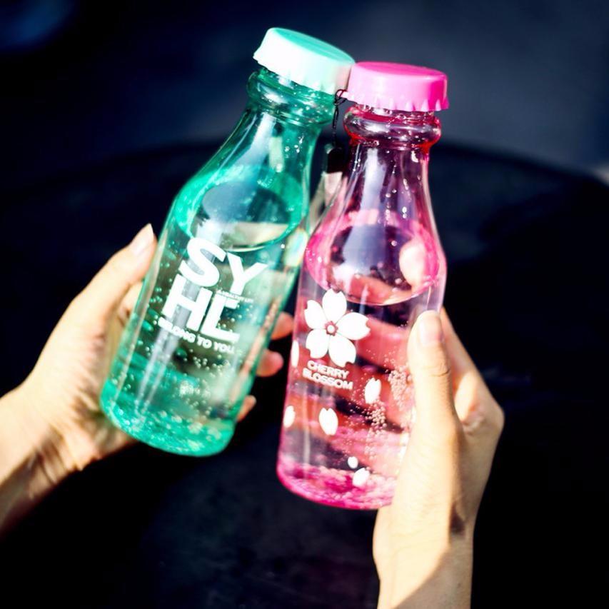 Unbreakable Outdoor Sports Travel Water Bottle Portable Leak-proof Cycling Camping Water 550ML Met Lanyard-frisdrank