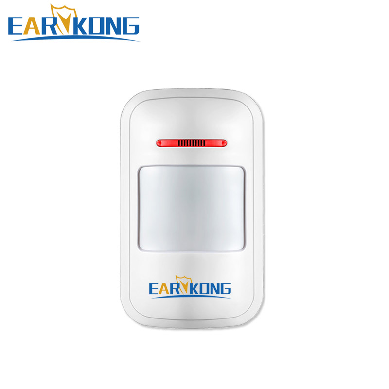 433MHz Wireless Passive Infrared Detector PIR Motion Sensor, For Alarm Systems Security Home Burglar, Free Shipping, Earykong .