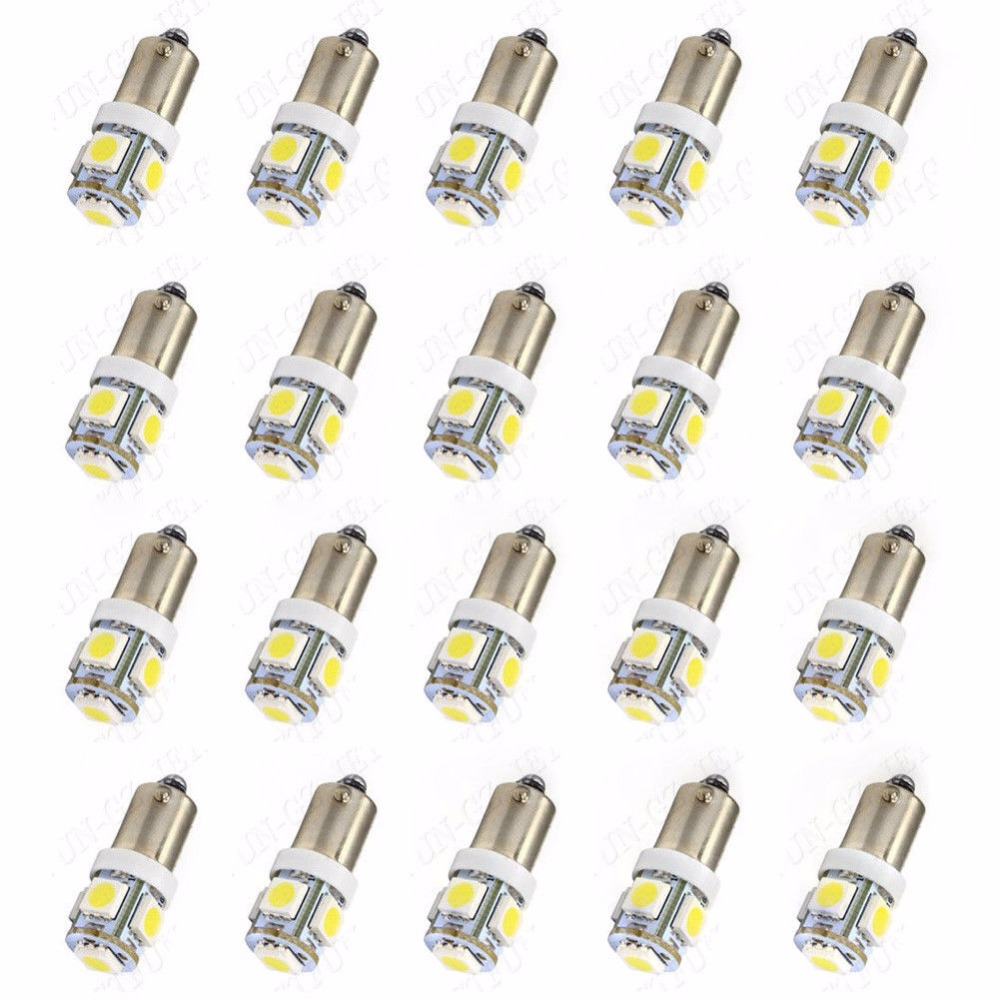 20x ba9s t11 5smd 12v 5050 car led light interior bulb lamp t4w