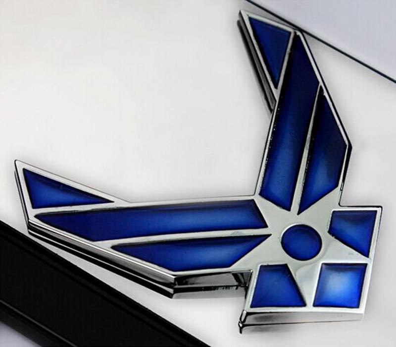 DSYCAR 3D Metal US Air Force Car sticker Logo Emblem Badge Car Styling for Fiat Bmw Ford Honda volkswagen Audi toyota opel DS VW 12