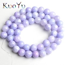 Natural Stone Purple Jades Beads Round Loose Spacer For Jewelry Making DIY Bracelet Necklace 15 Strand 6/8/10/12 mm