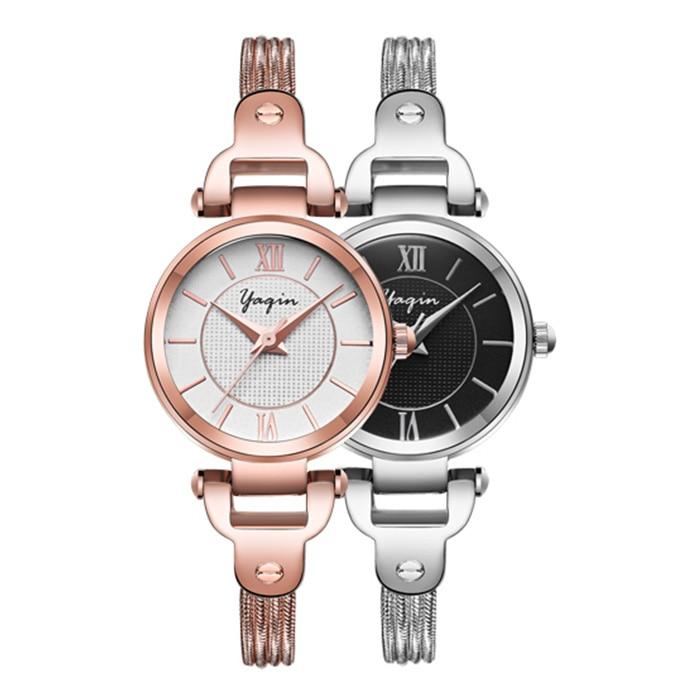 High Quality Fashion Women Stainless Steel Watch Business Casual Luxury Brand Quartz Ladies Bracelet Watch Relogio