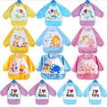 13 Designs Fashion Waterproof Children bibs Long Sleeve For Lunch Cartoon baby clothing baby bib waterproof Clothing 3Colors