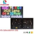 Модуль светодиодного дисплея Evershine P5mm SMD3528  полноцветный  1/16  размер 320x160 мм