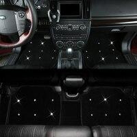luxury diamond plush anti slip washable car floor mats girls women universal car foot mats diamond for all car model universal